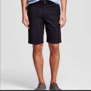 2 pairs of khaki shorts one navy blue one white 28
